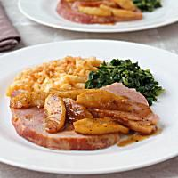 Ham Steaks With Caramelized Apple Sauce