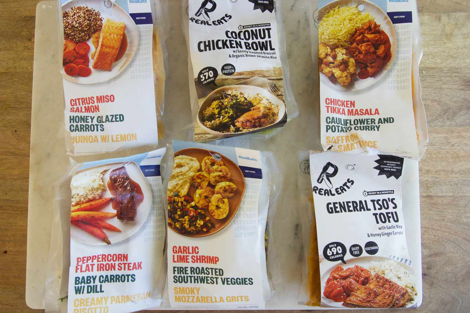 RealEats meals in packaging