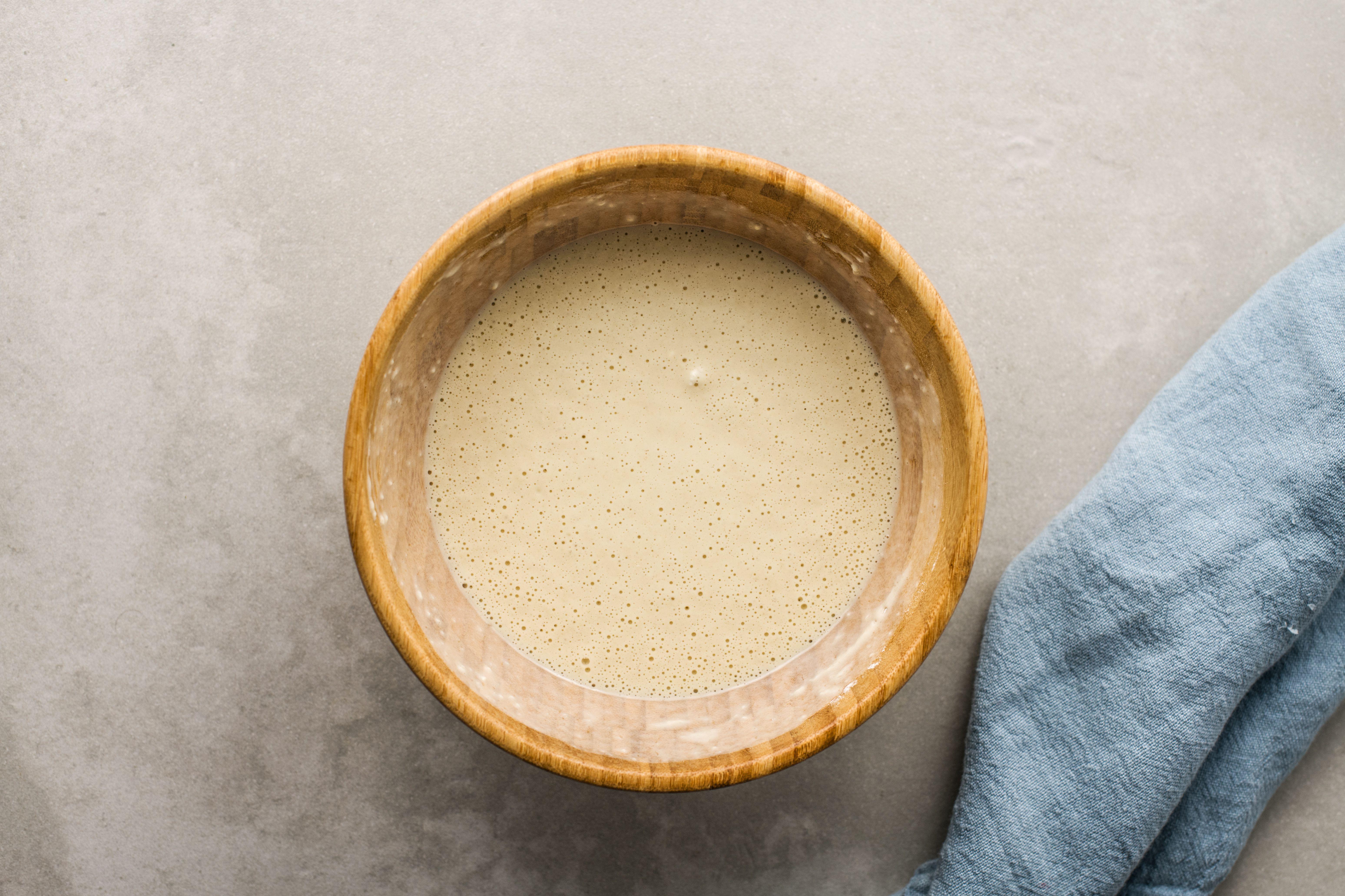 Mix in flour