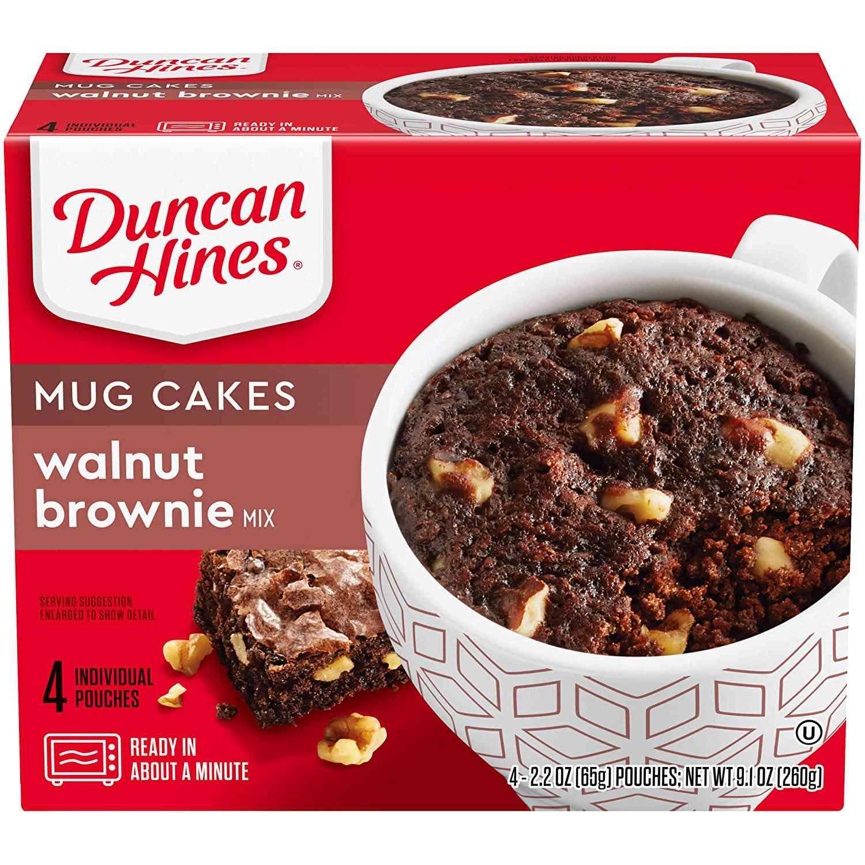 Duncan Hines Mug Cakes Walnut Brownie Mix