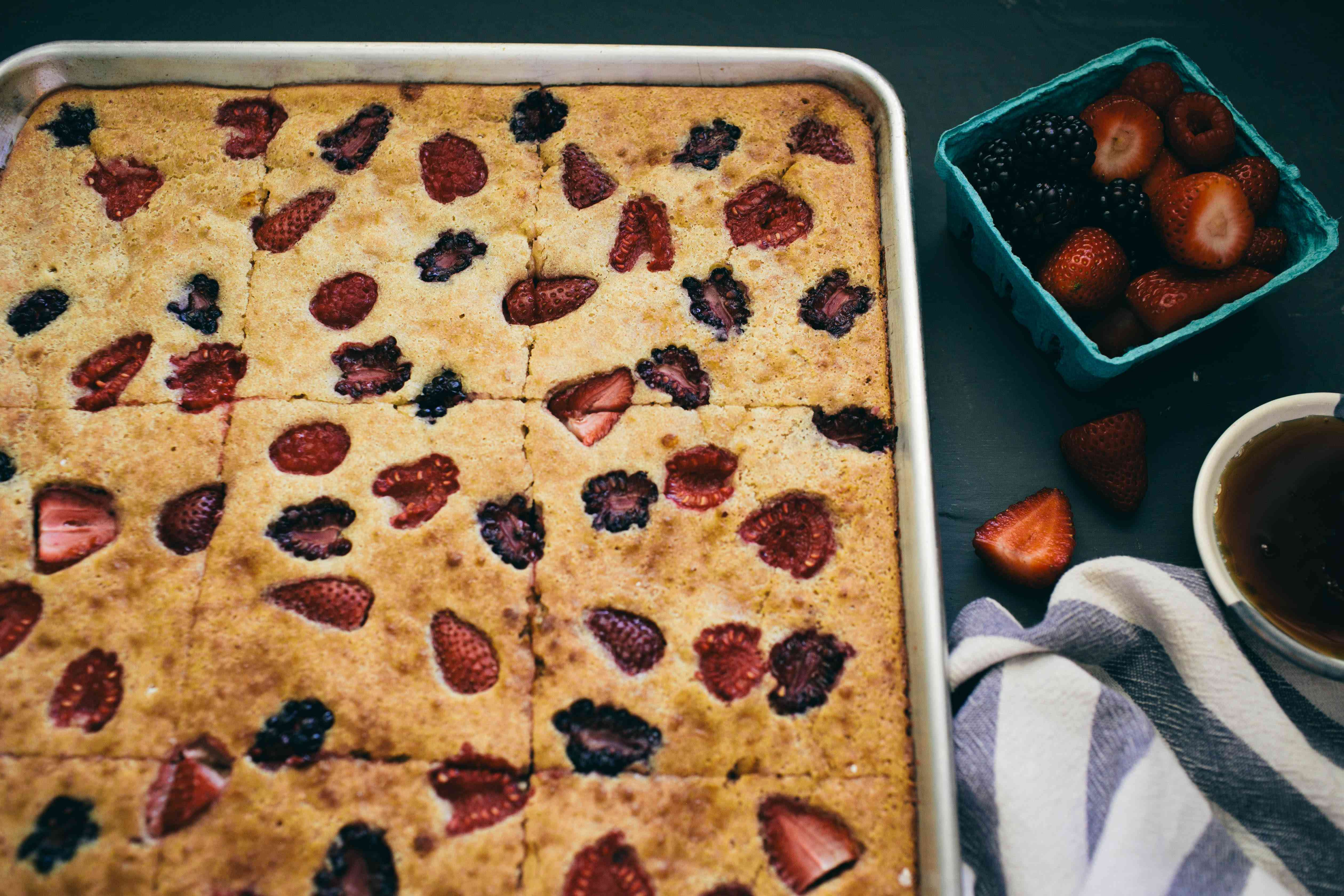 Bake and cut into squares