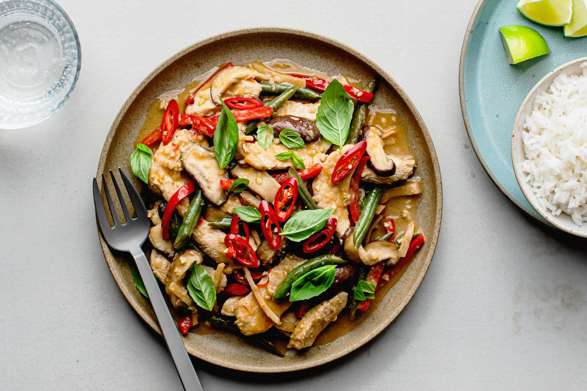 Thai Chicken Stir Fry With Coconut Chili And Lime Easy