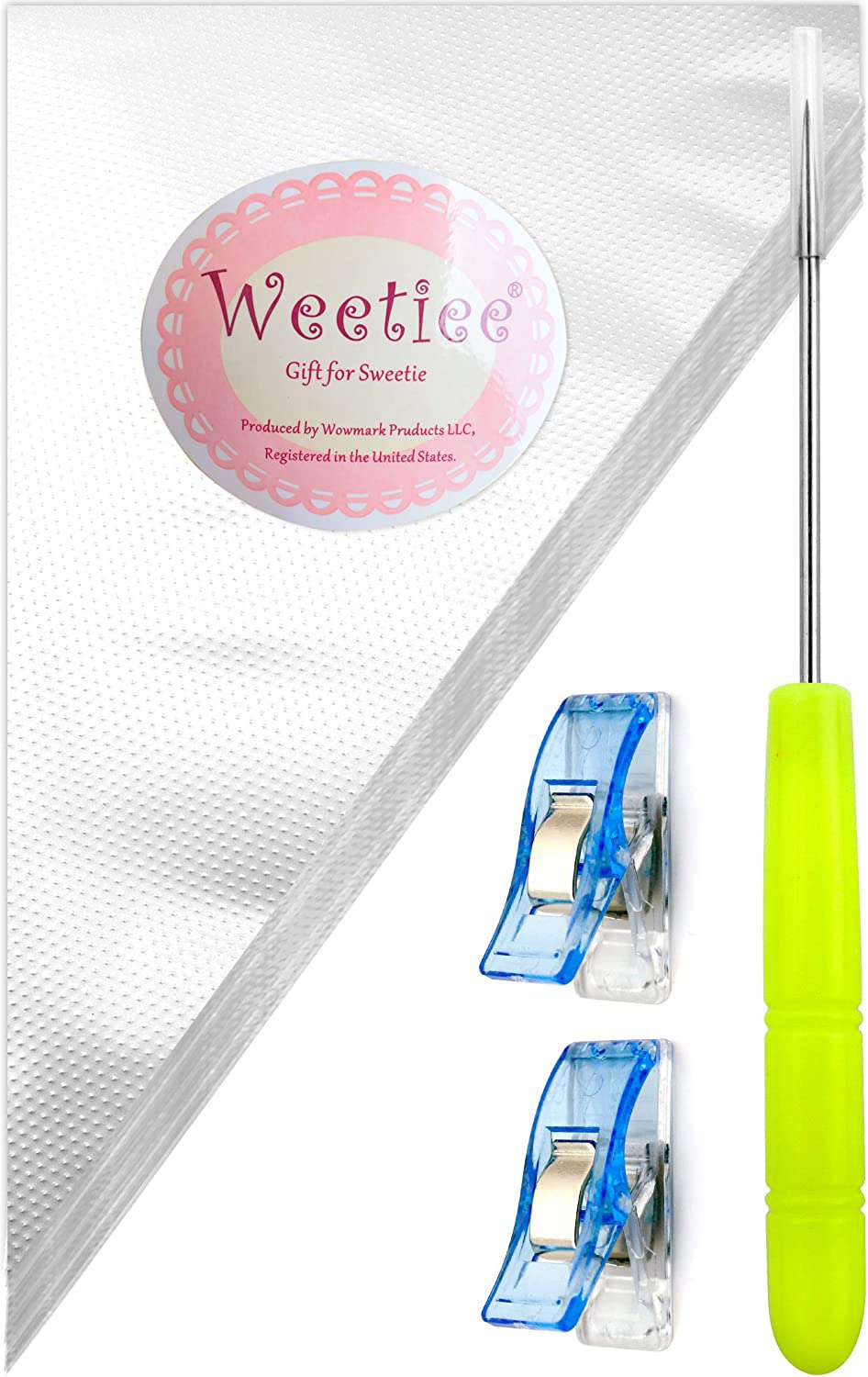 Weetiee 12-Inch Tipless Piping Bags, 100-Count