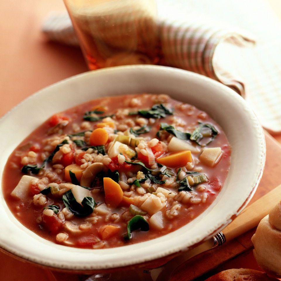 Crock pot barley vegetable soup