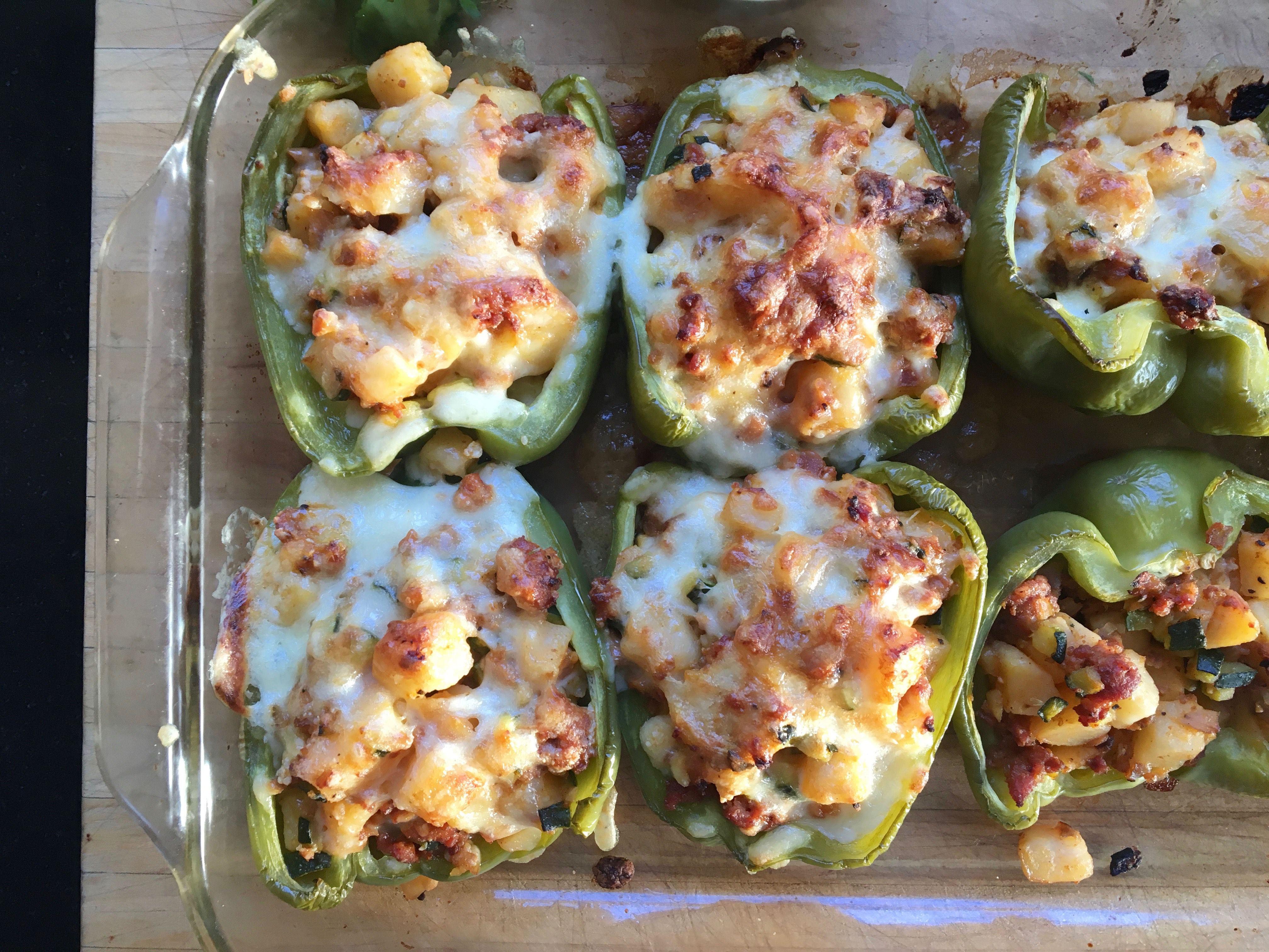 Chile Relleno Stuffed Peppers