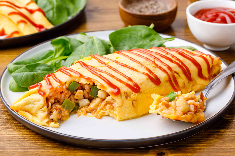 Omelet rice recipe