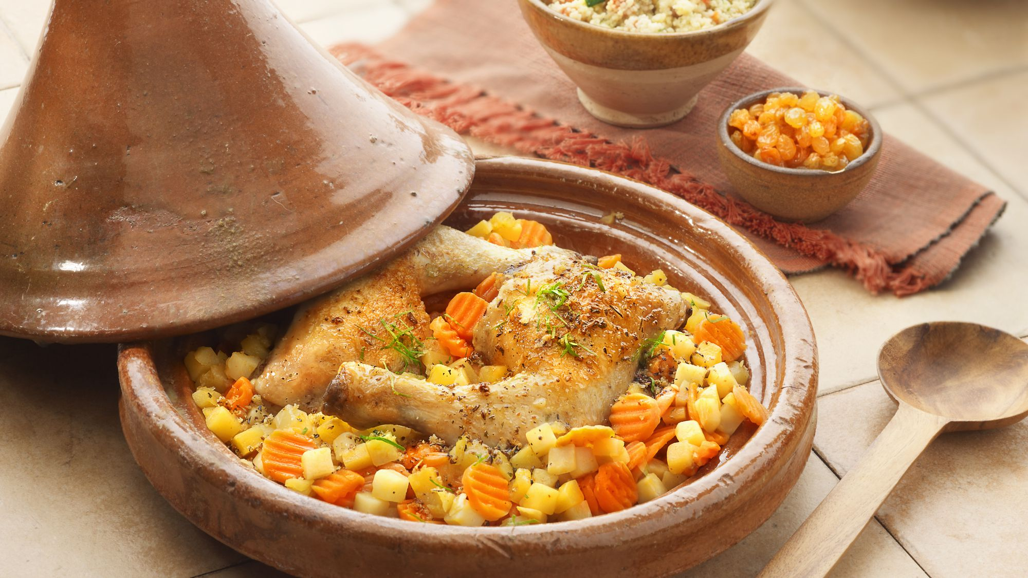 Moroccan Chicken Tagine, Potatoes, and Carrots Recipe