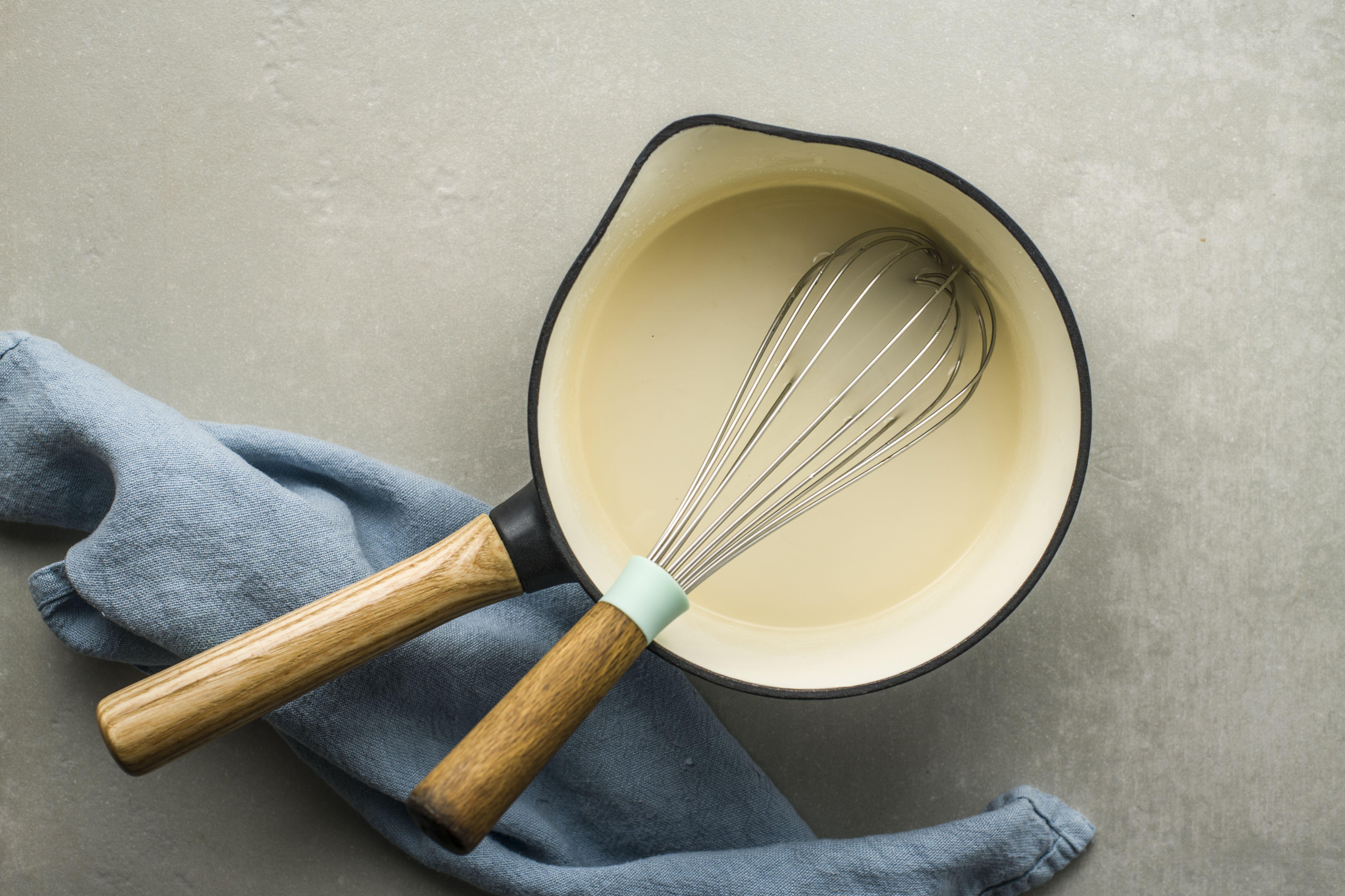 Whisk ingredients together for lemon dessert sauce