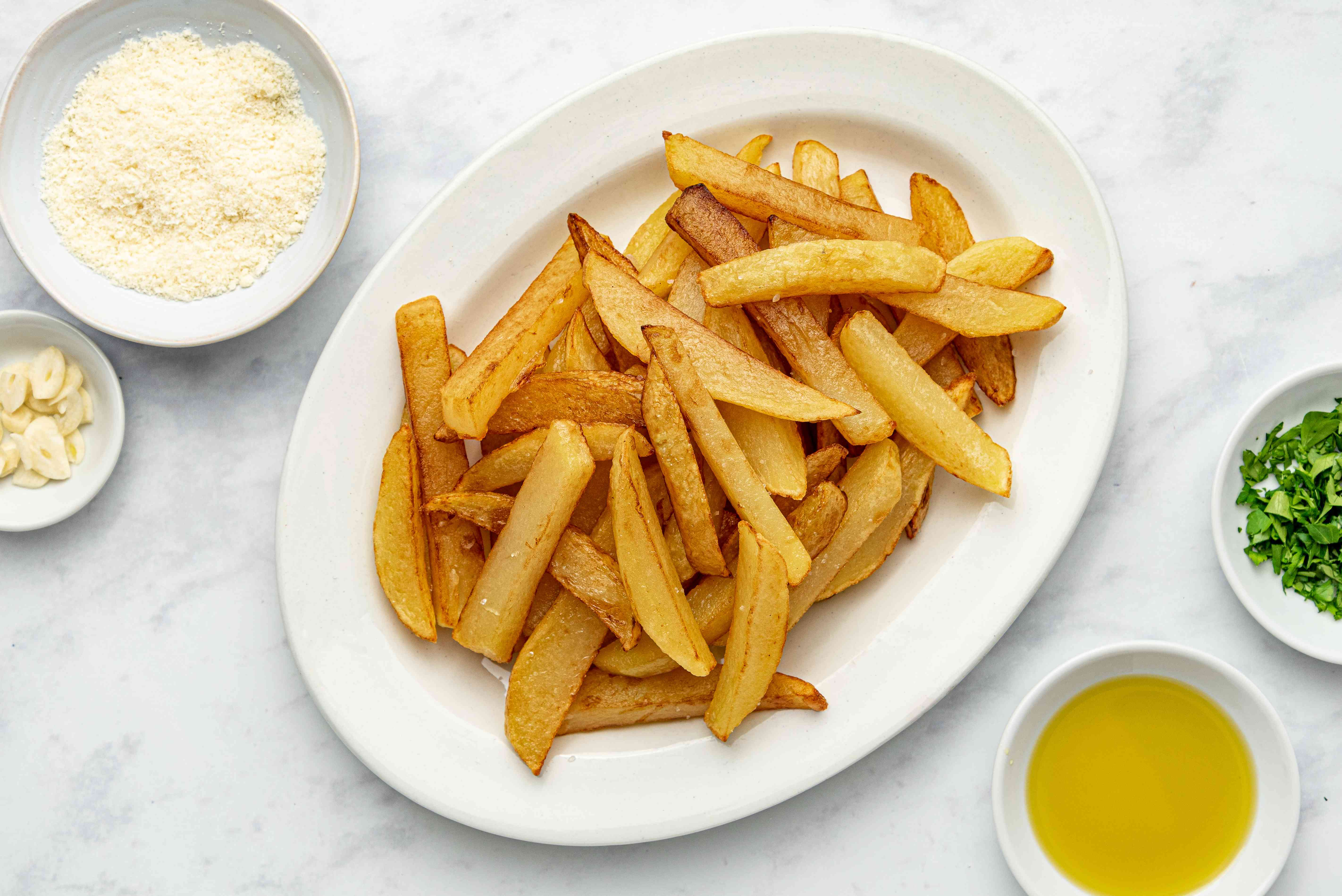 Truffled French Fries on a platter