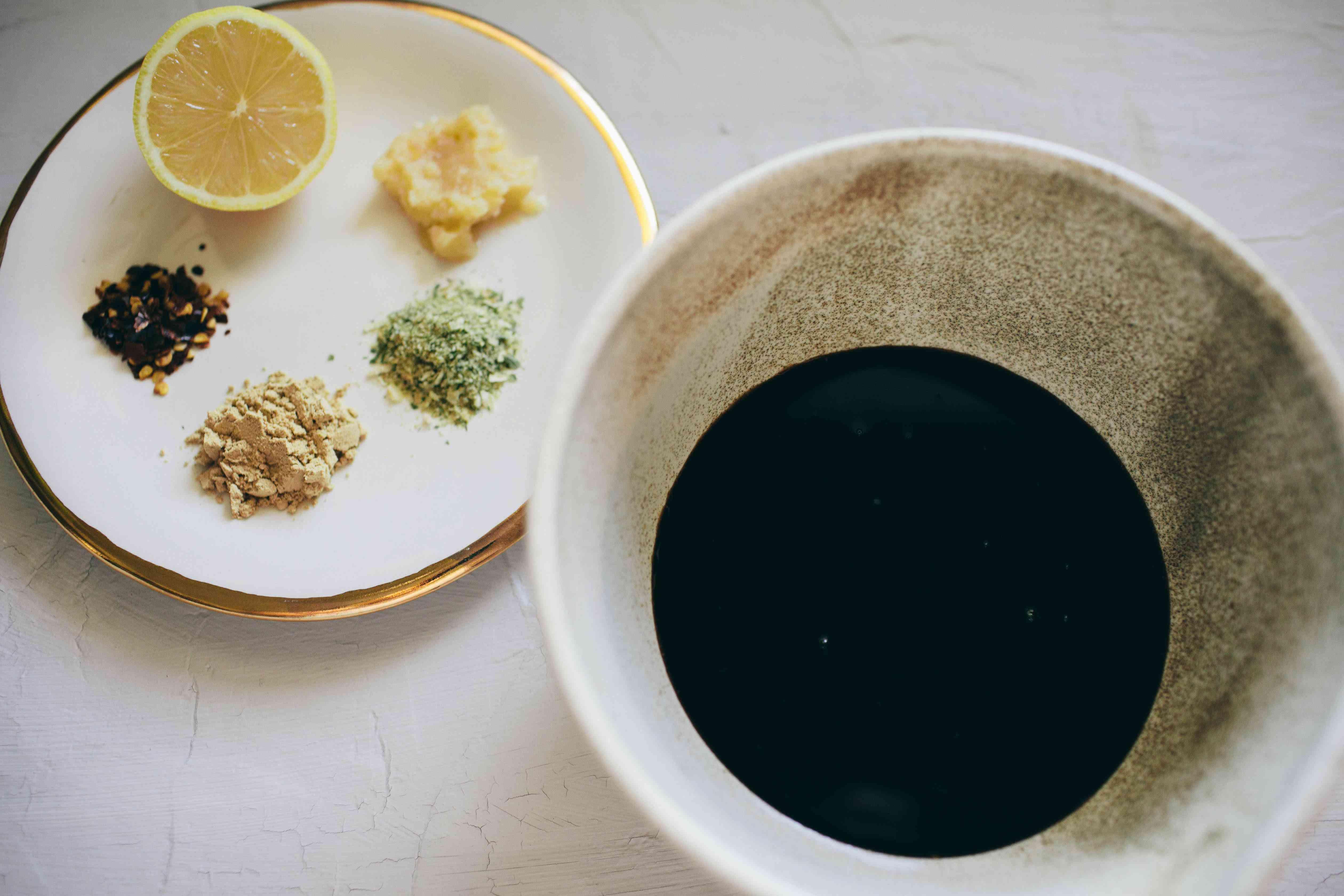 Mix together marinade ingredients for Honey Garlic Shrimp