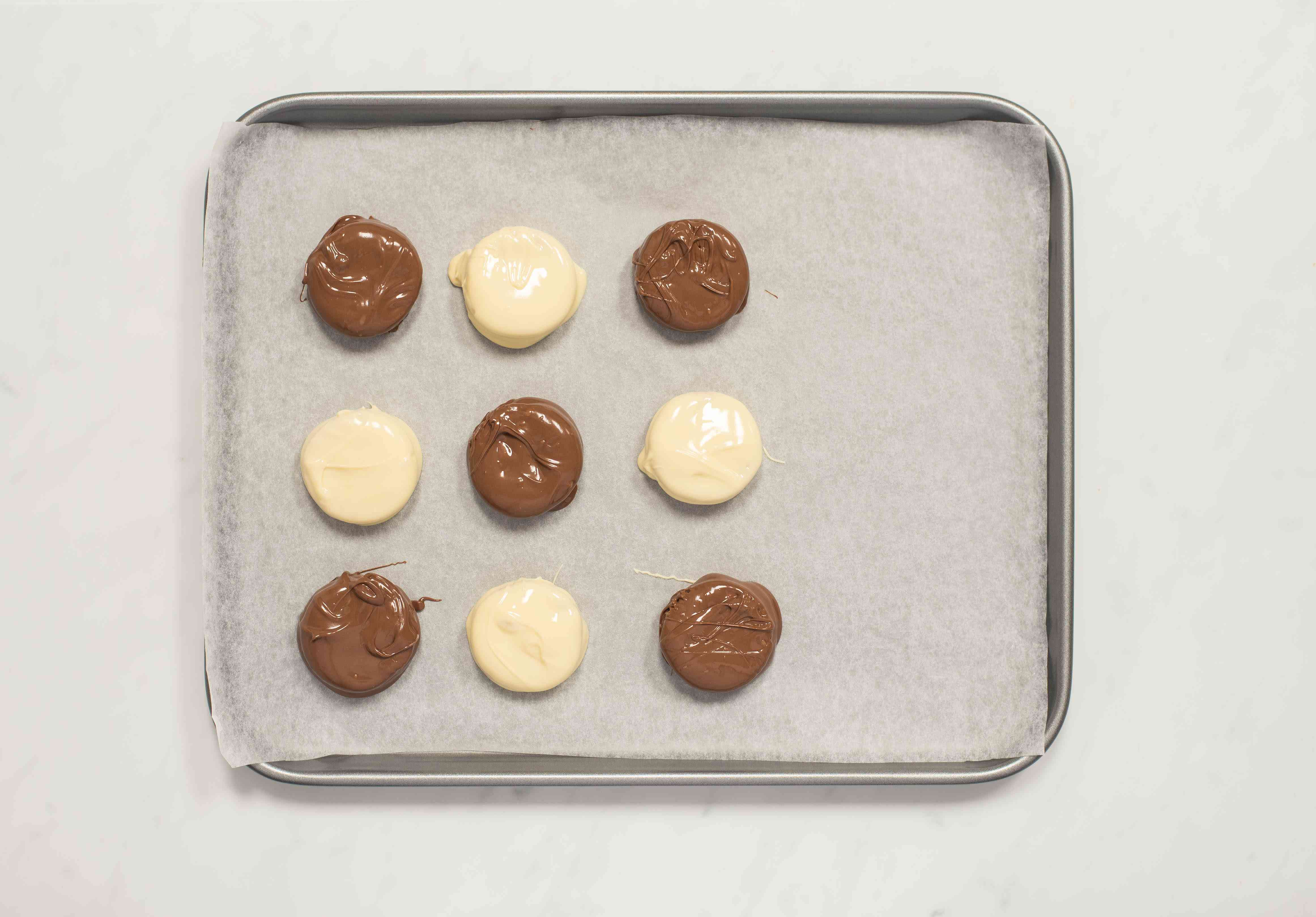Place cookies on baking sheet