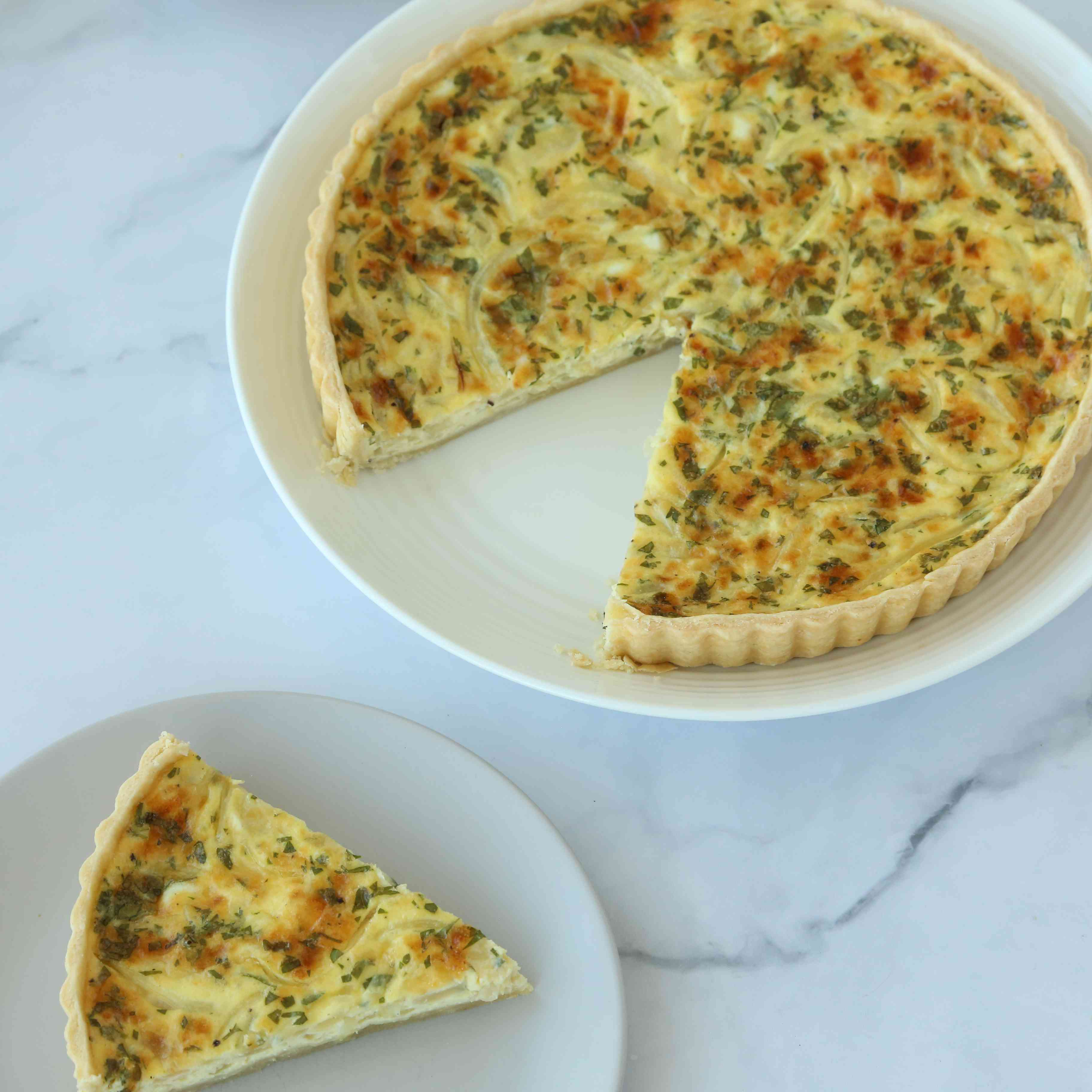 Cheese and Onion Flan Tester Image