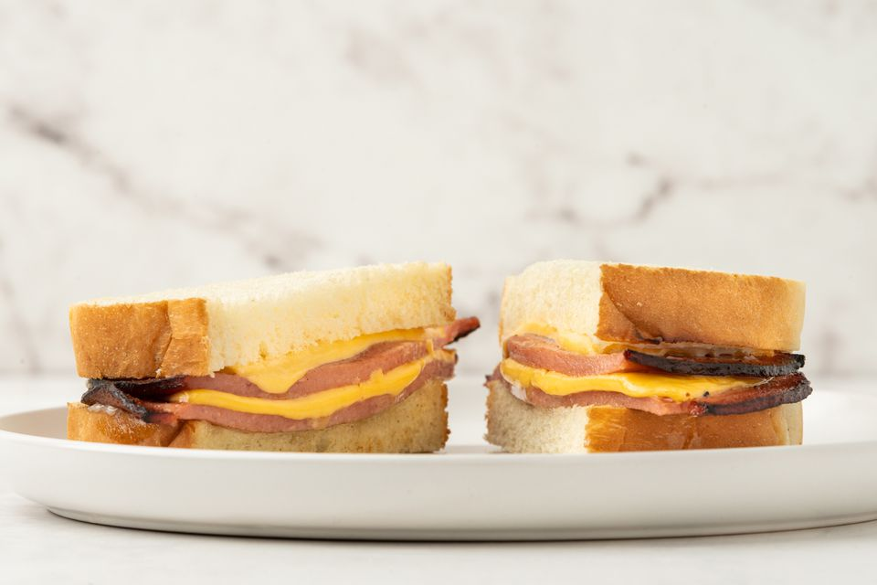 Fried Bologna and Cheese Sandwich