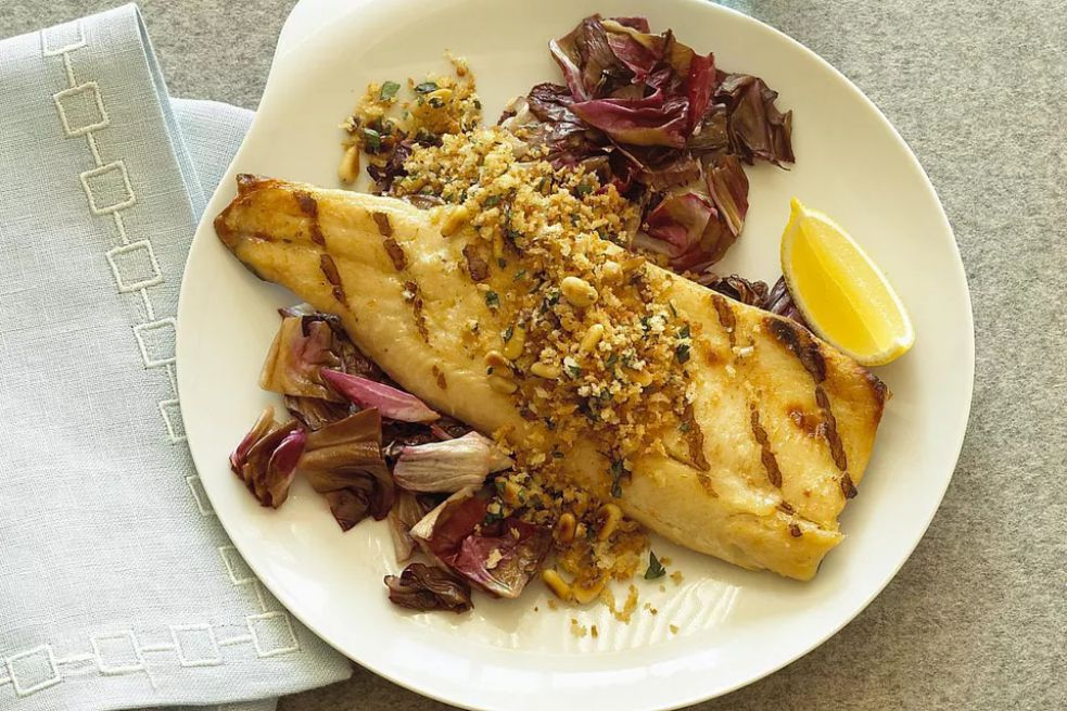 Pan-Fried Trout With Garlic and Lemon