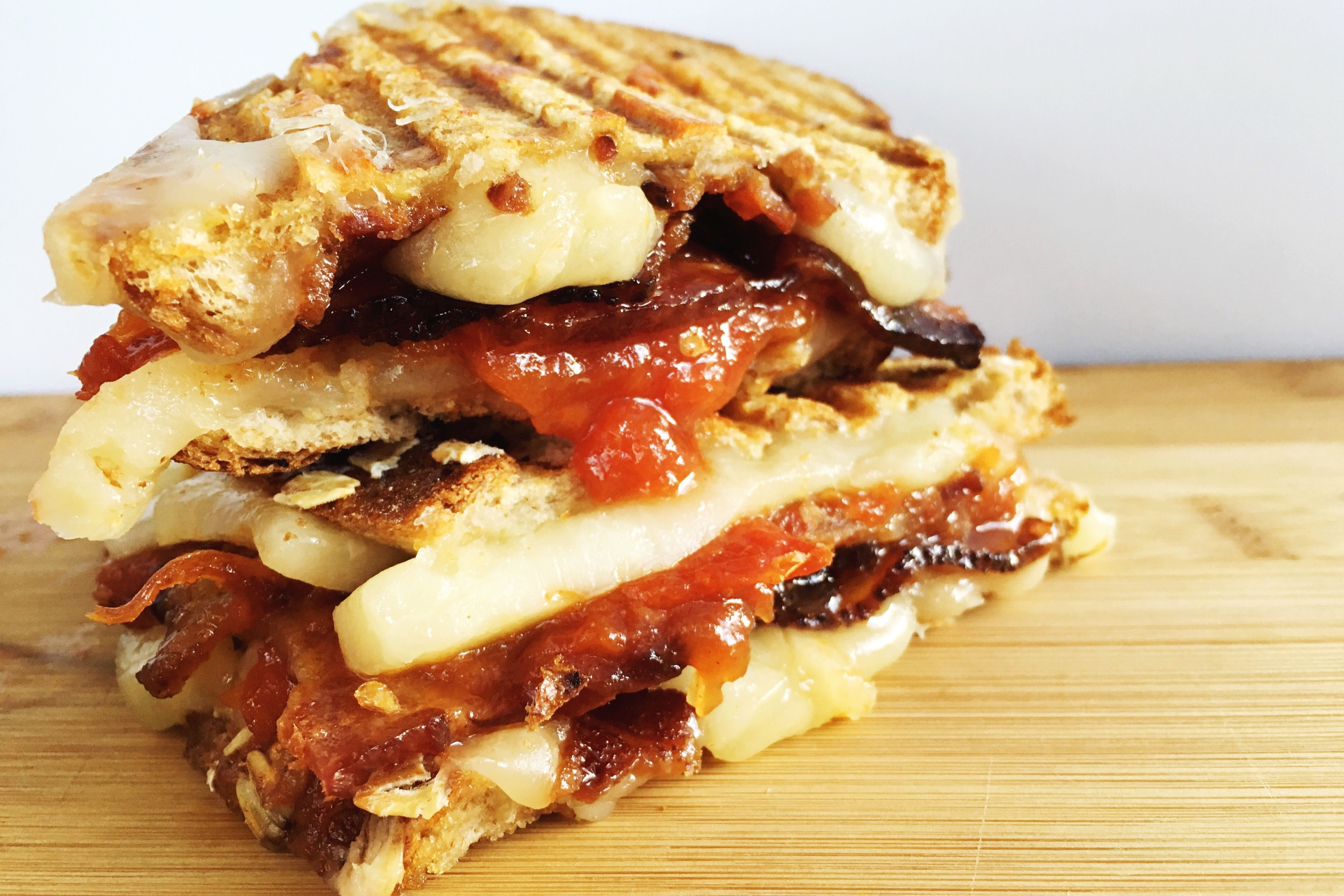 Tomato Jam and Bacon Grilled Cheese
