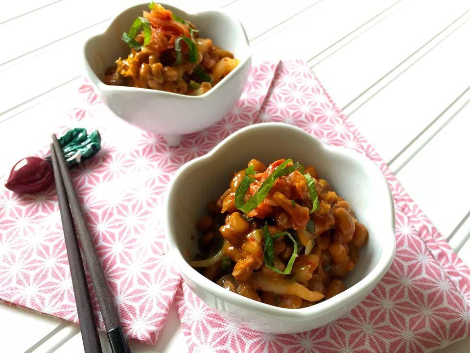 Spicy kimchi natto