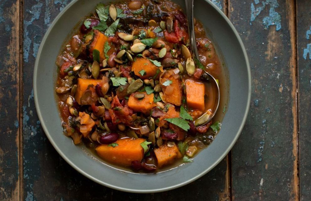 Spicy Sweet Potato and Quinoa Salad Bowl