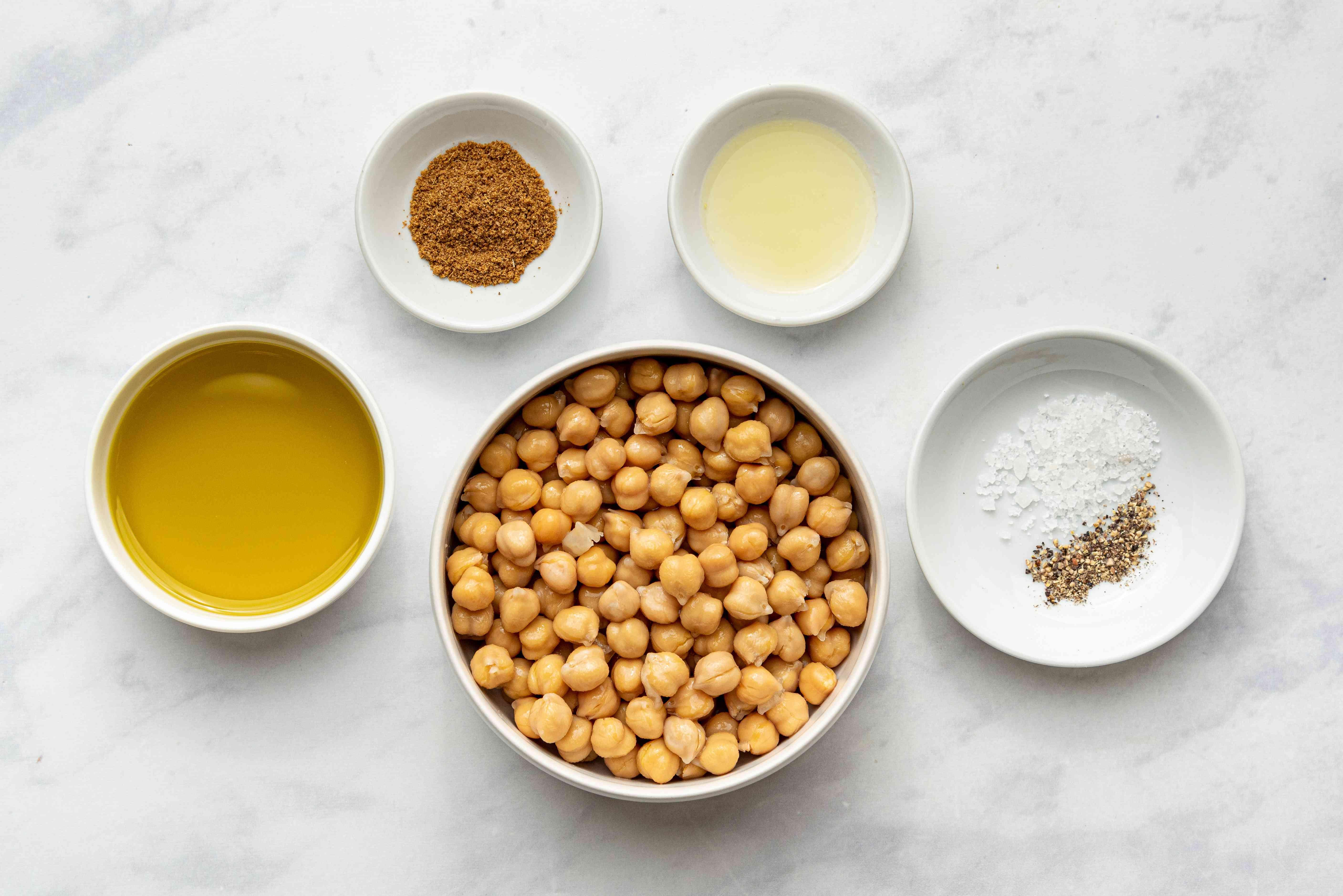 No-Tahini Hummus ingredients