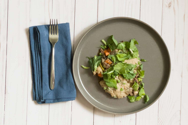 Methodology food on plate on white table
