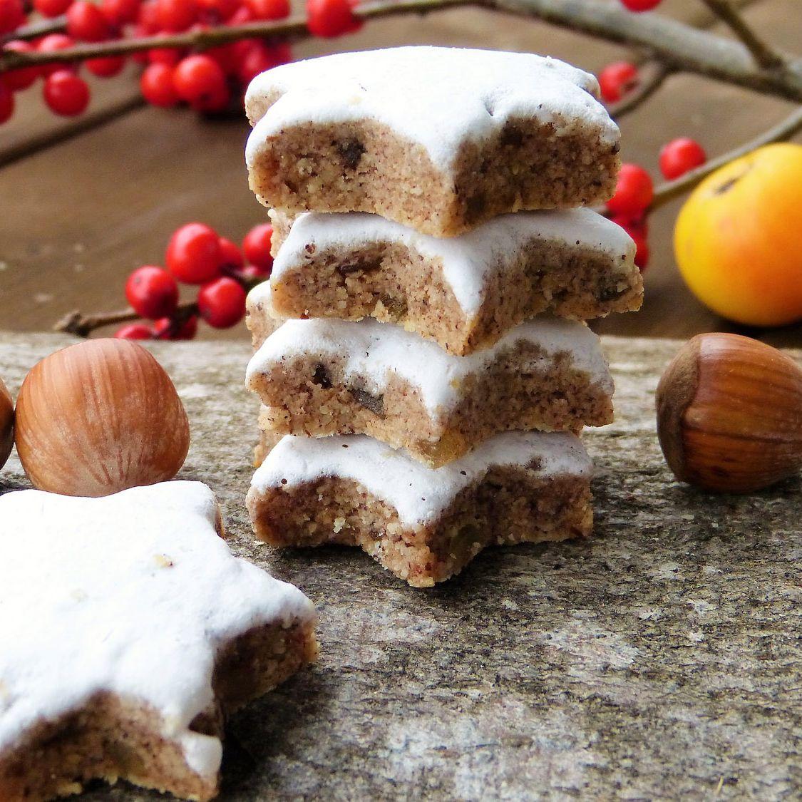 German Cinnamon Star Christmas Cookies Zimtsterne