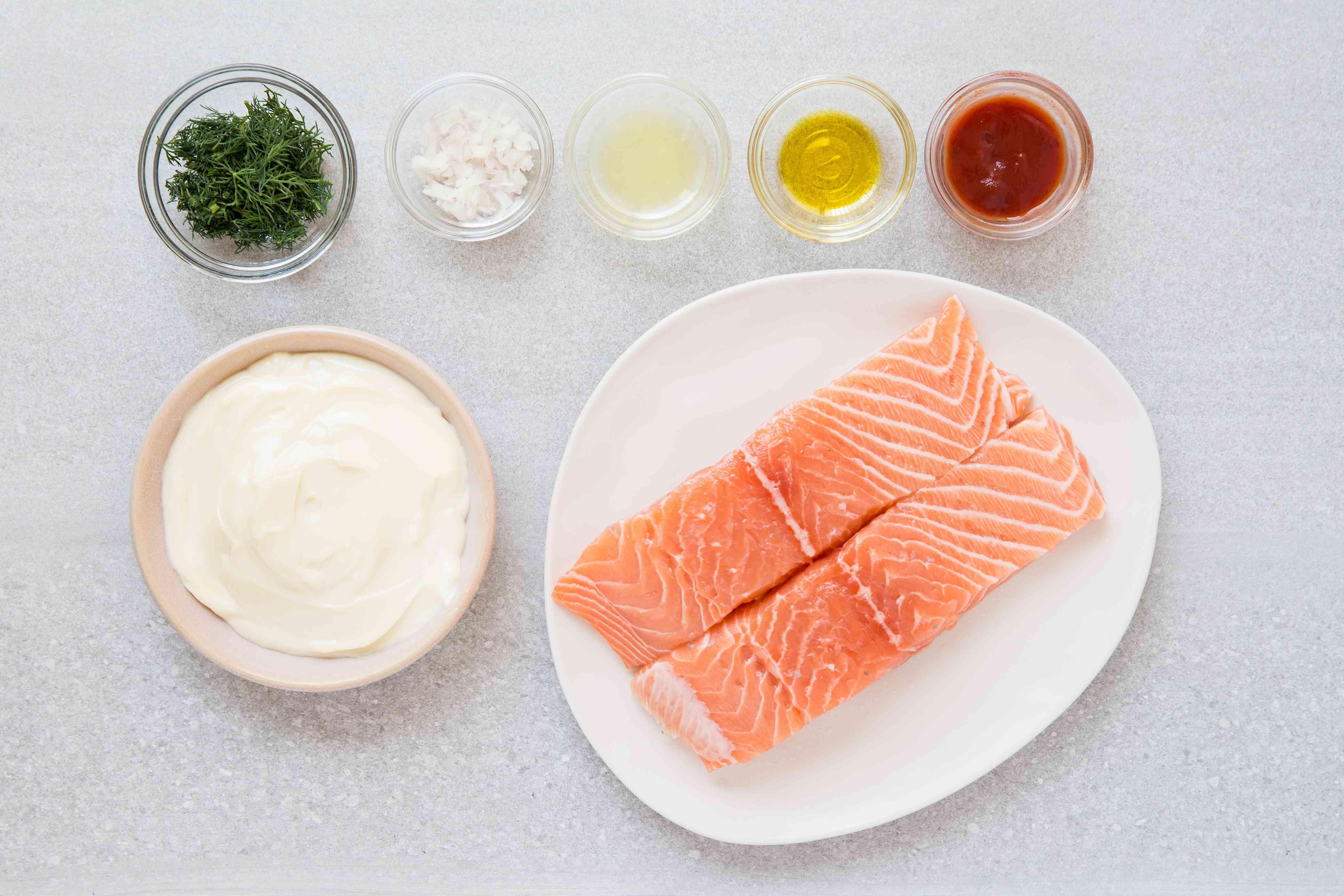 Mayonnaise Grilled Salmon Recipe ingredients