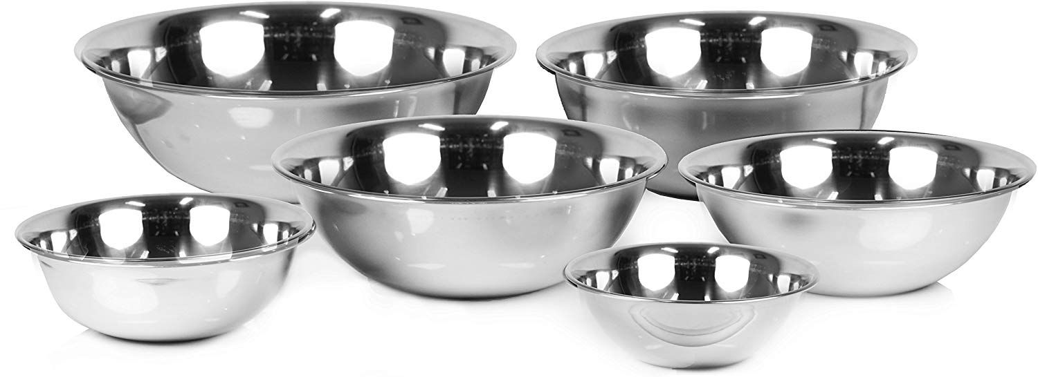 ChefLand Stainless Steel Mixing Bowls, Set of 6
