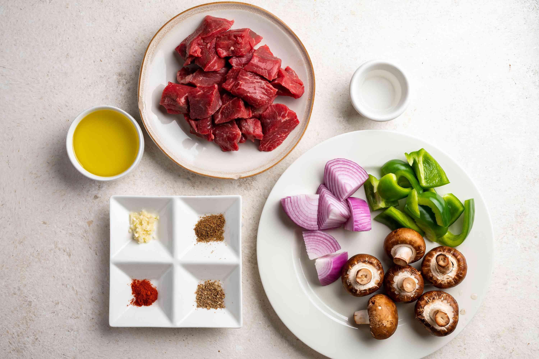 Middle Eastern Beef Shish Kebab Recipe ingredients