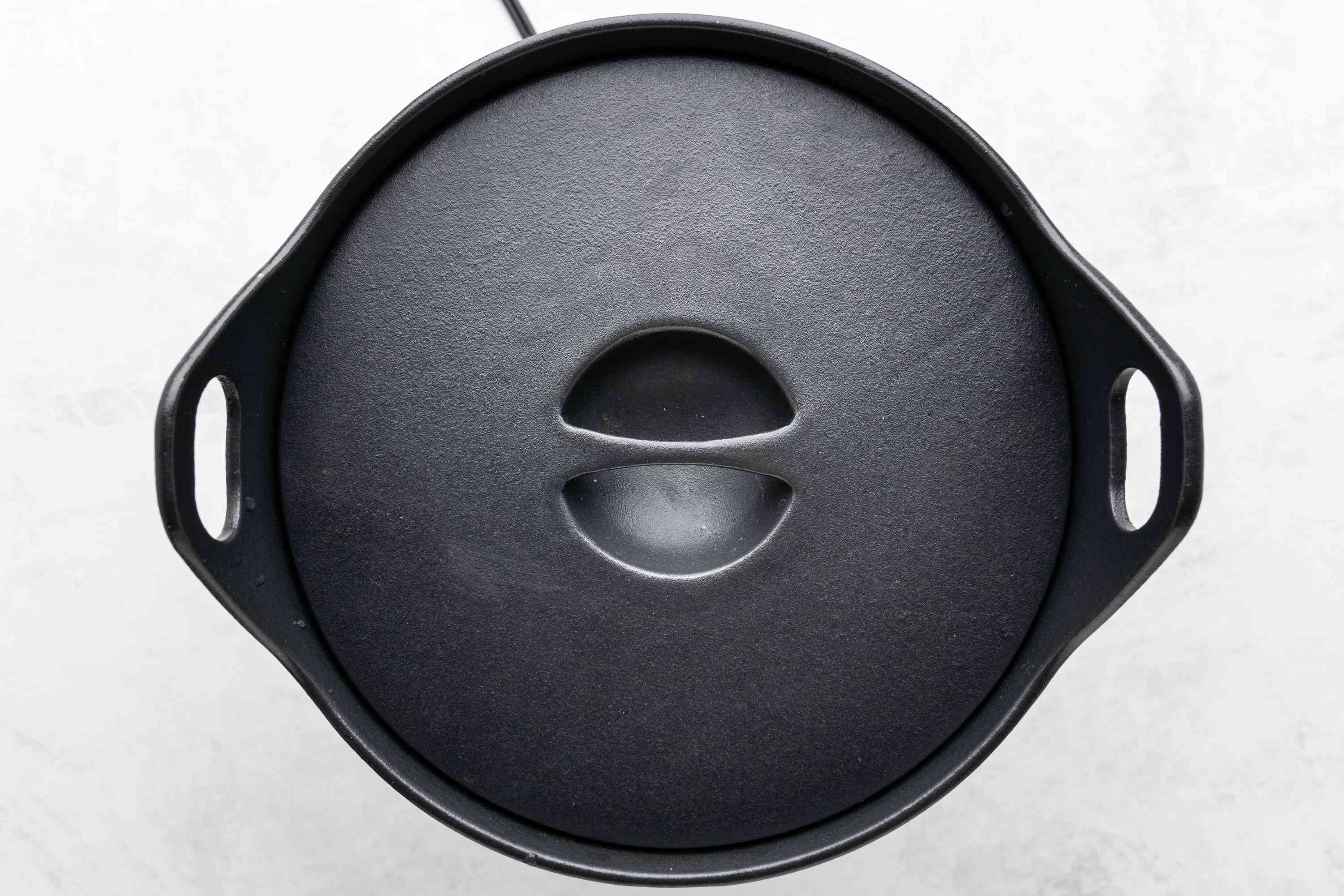 broth cooking in a covered pot