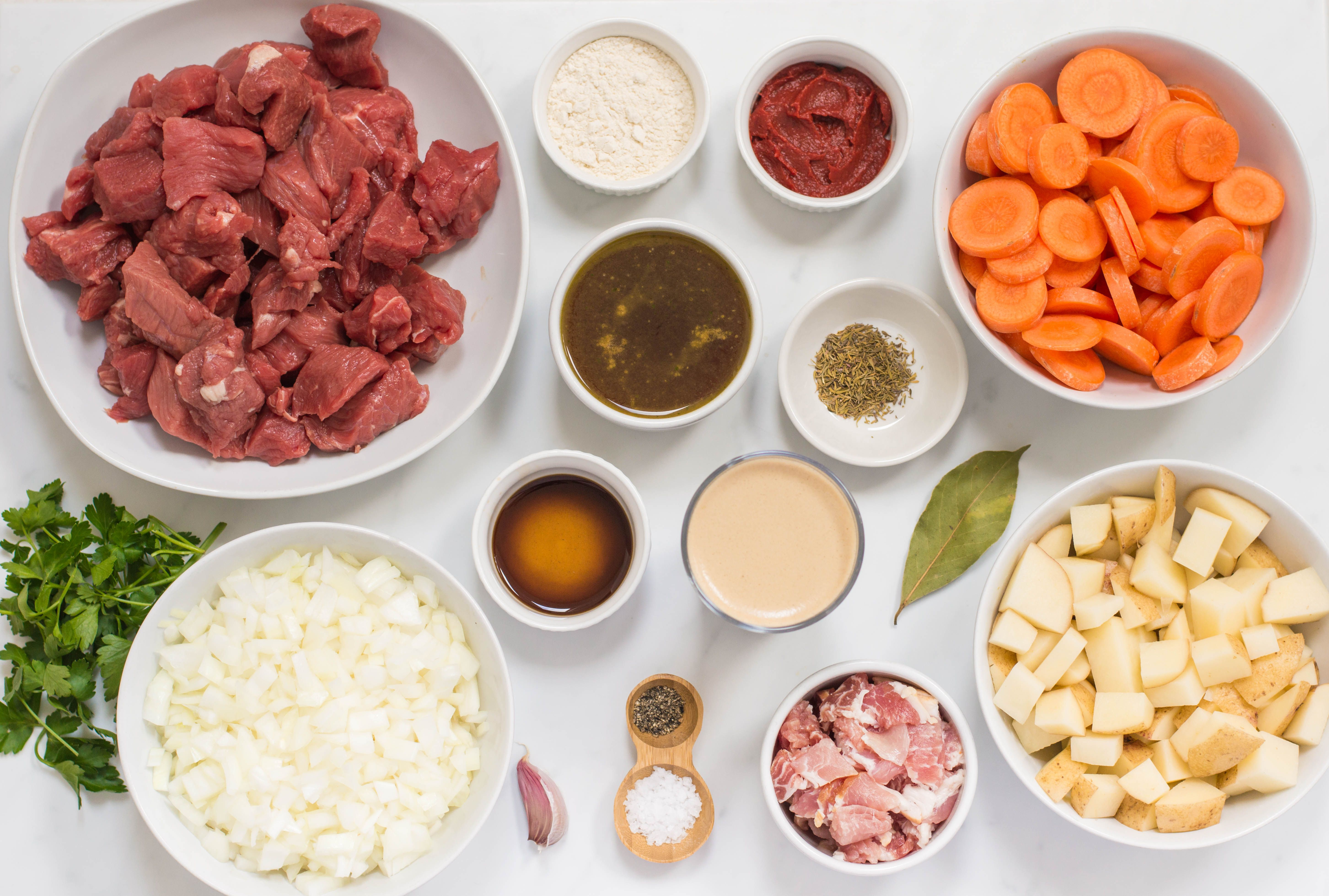 Beef and Guinness Stew Recipe ingredients