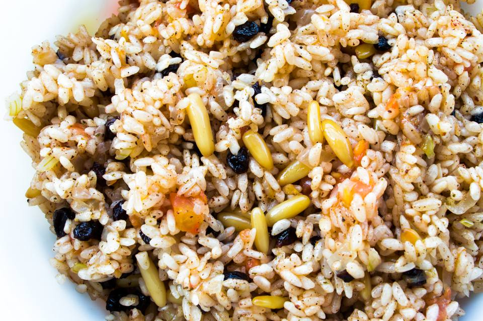 Seasoned Pilau with beans
