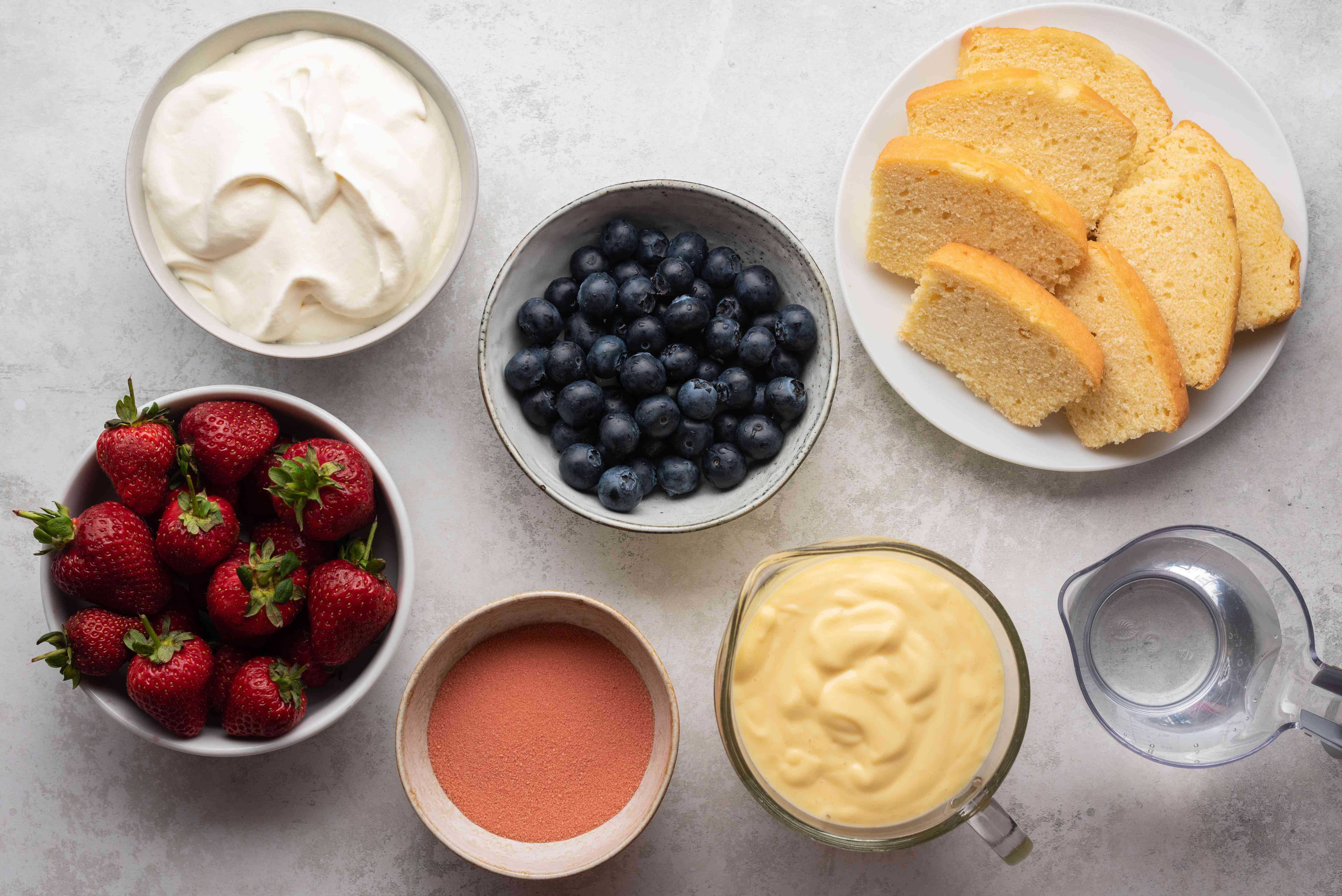 Classic Berry Trifle ingredients