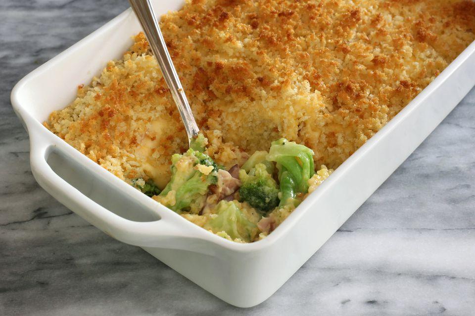 Ham, broccoli, and cheese casserole