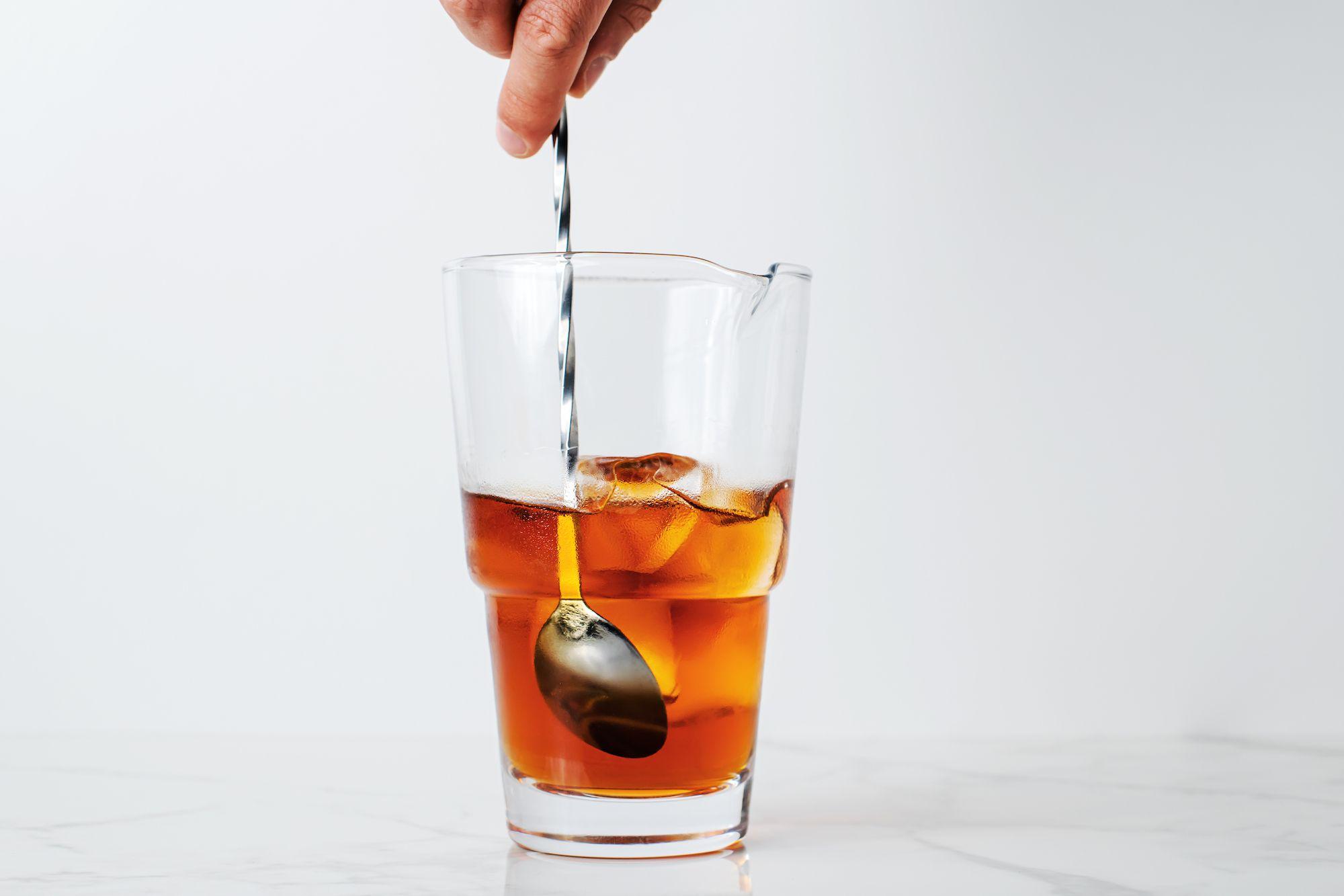 Stir whiskey