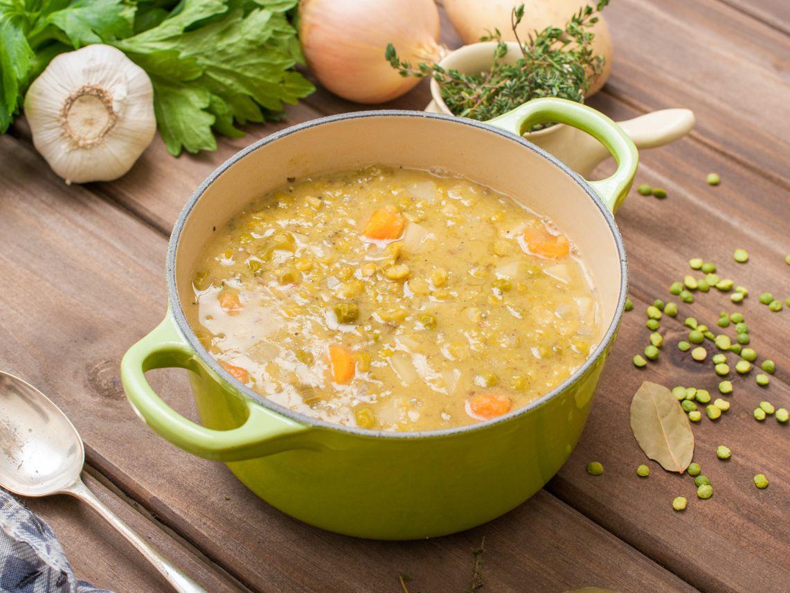 Vegetarian Fat Free Crock Pot Split Pea Soup Recipe