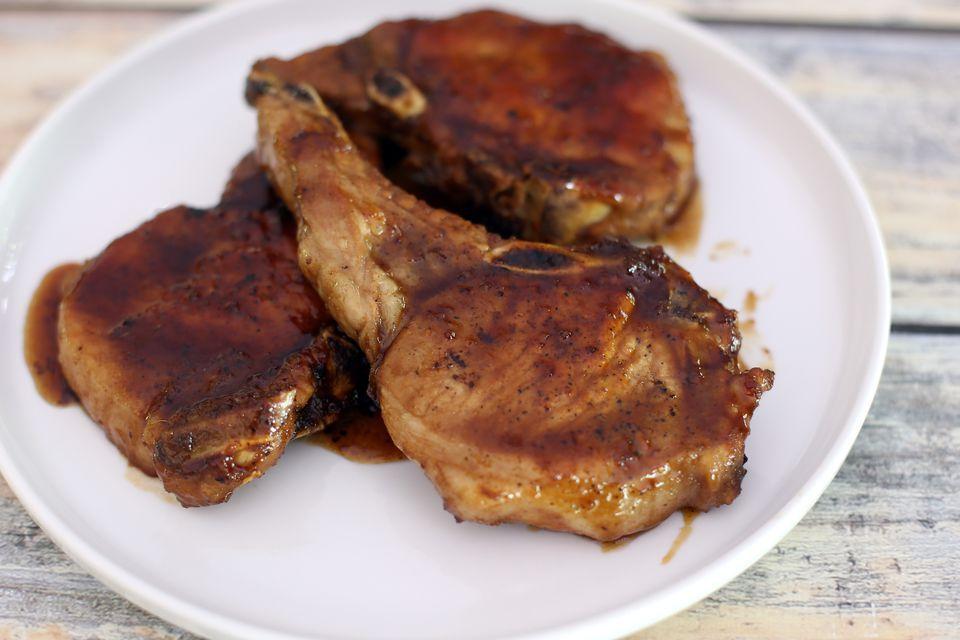Maple Glazed Pork Chops