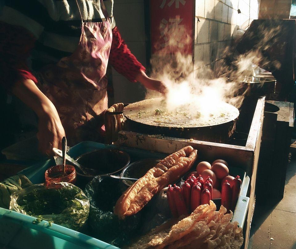 Woman Cooking Street Food