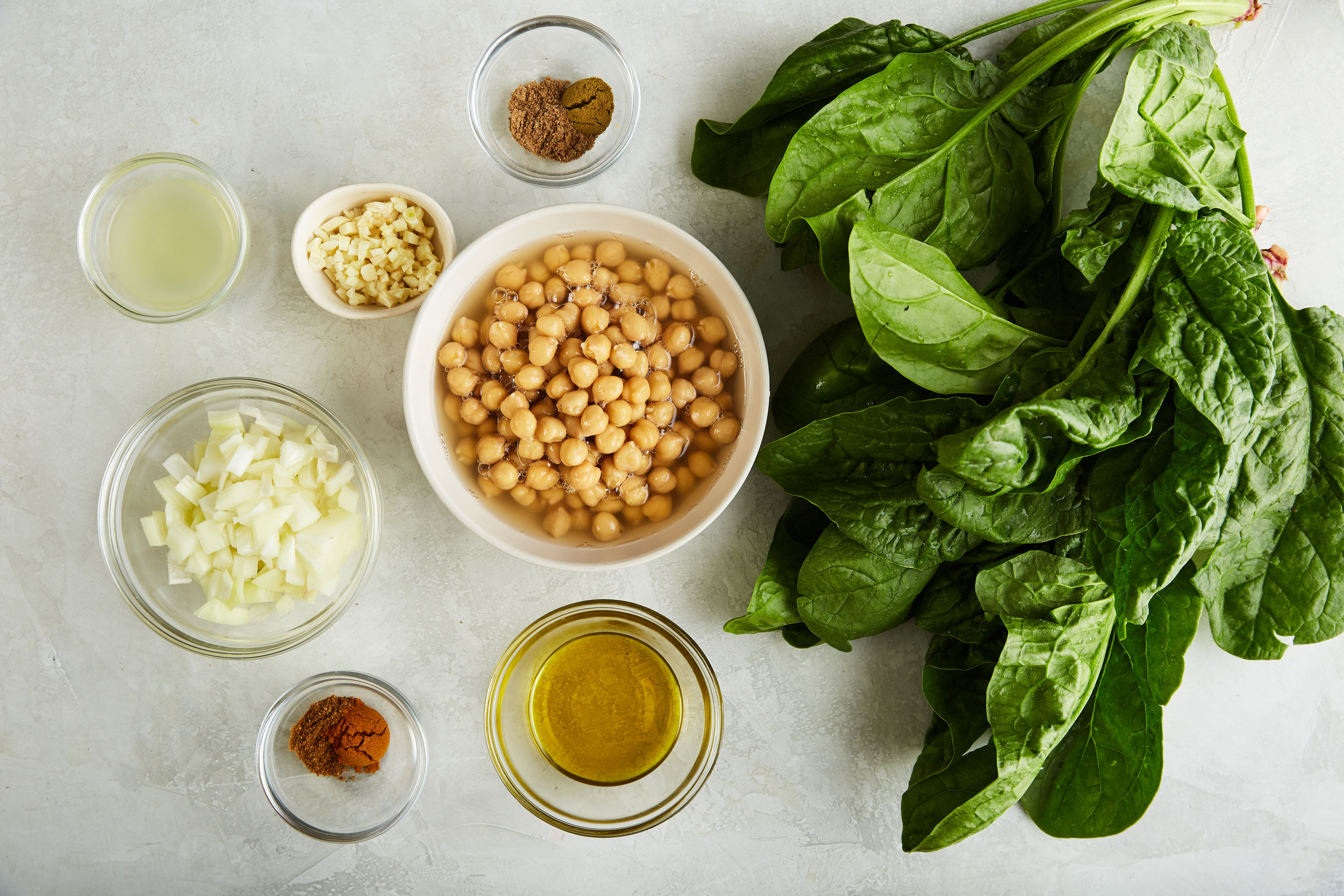 Ingredients for chana masala