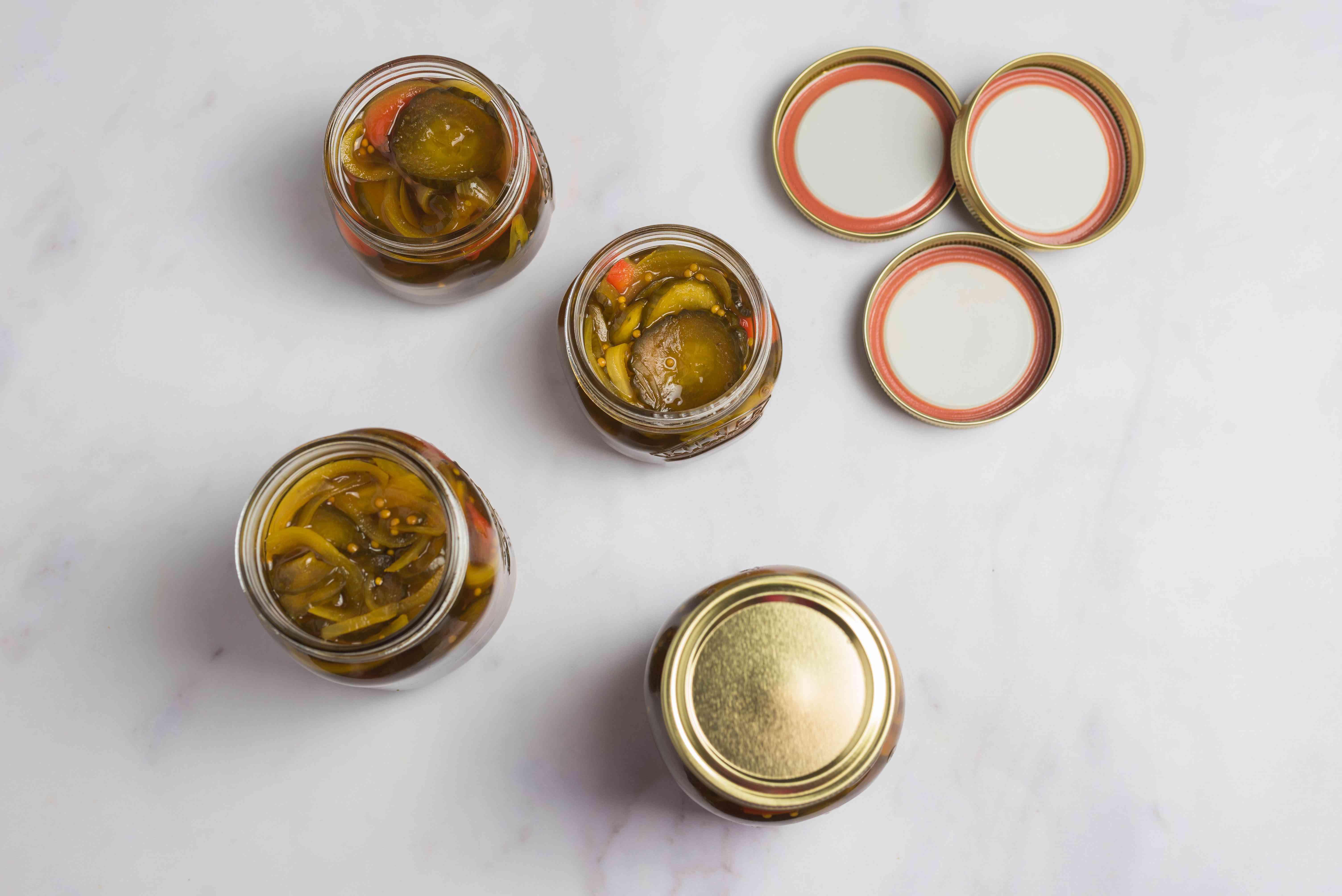 Fill hot sterilized jars