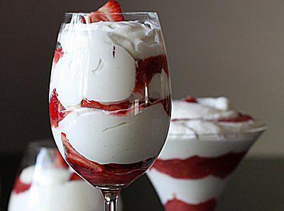 Quick Strawberry Rhubarb Fool