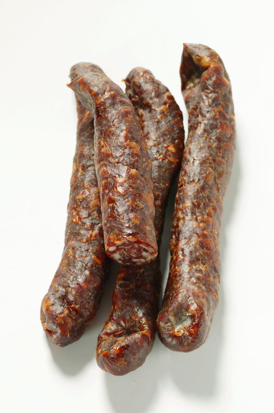 Four venison sausages
