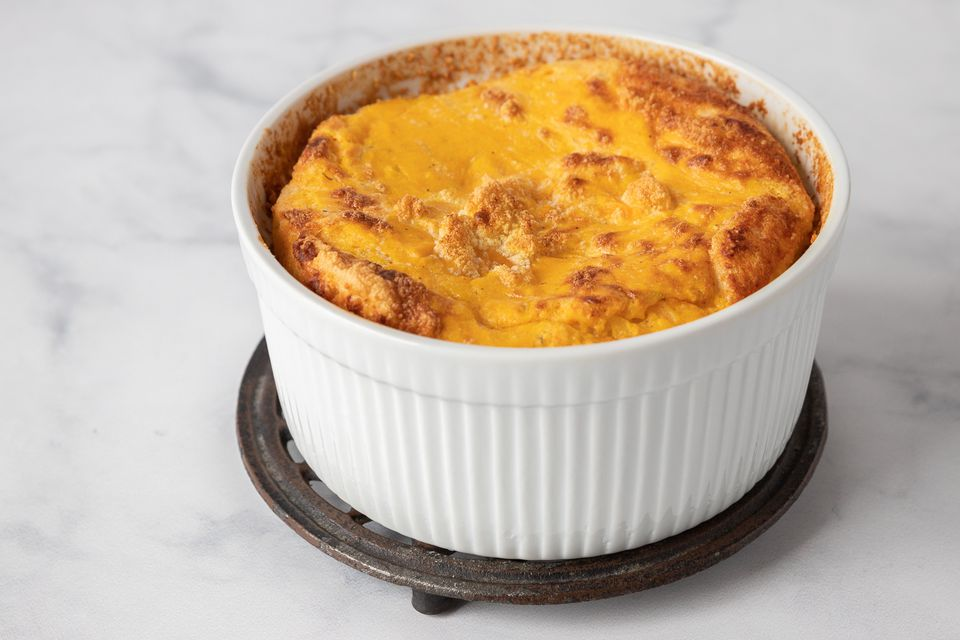French Savory Sweet Potato Soufflé