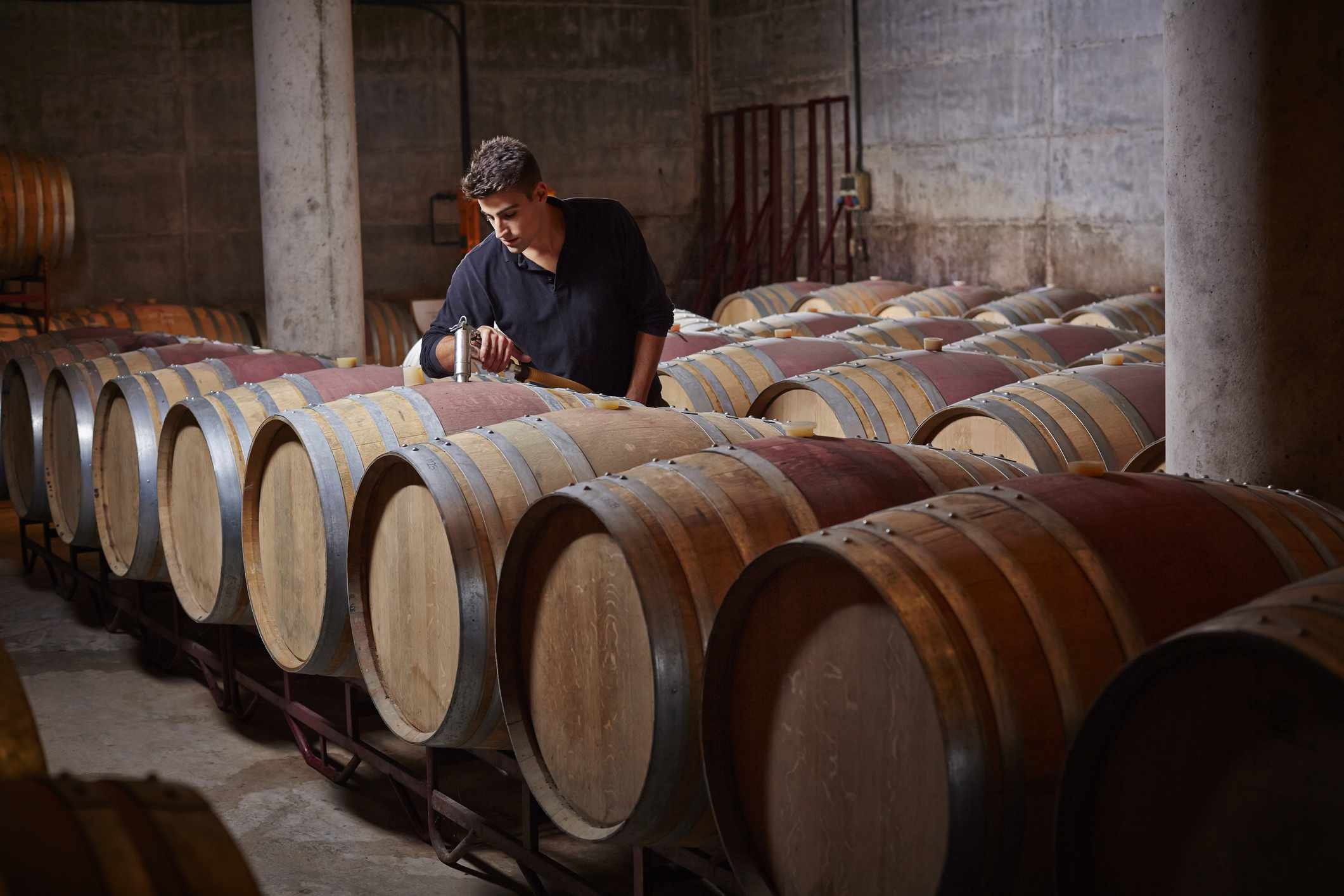 Racking a wine is an alternative way to remove sediment without using fining or filtration