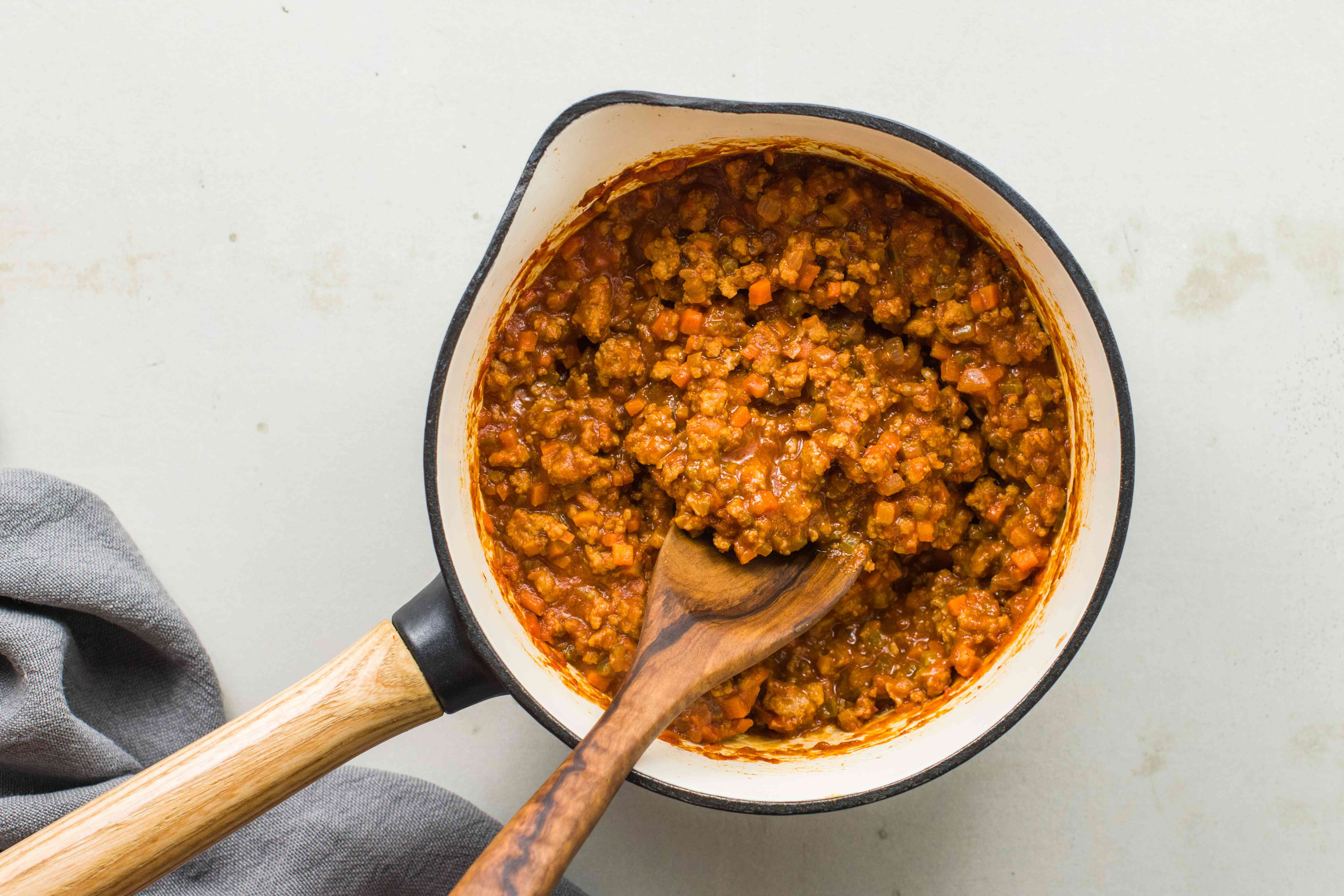 Stir in meat sauce