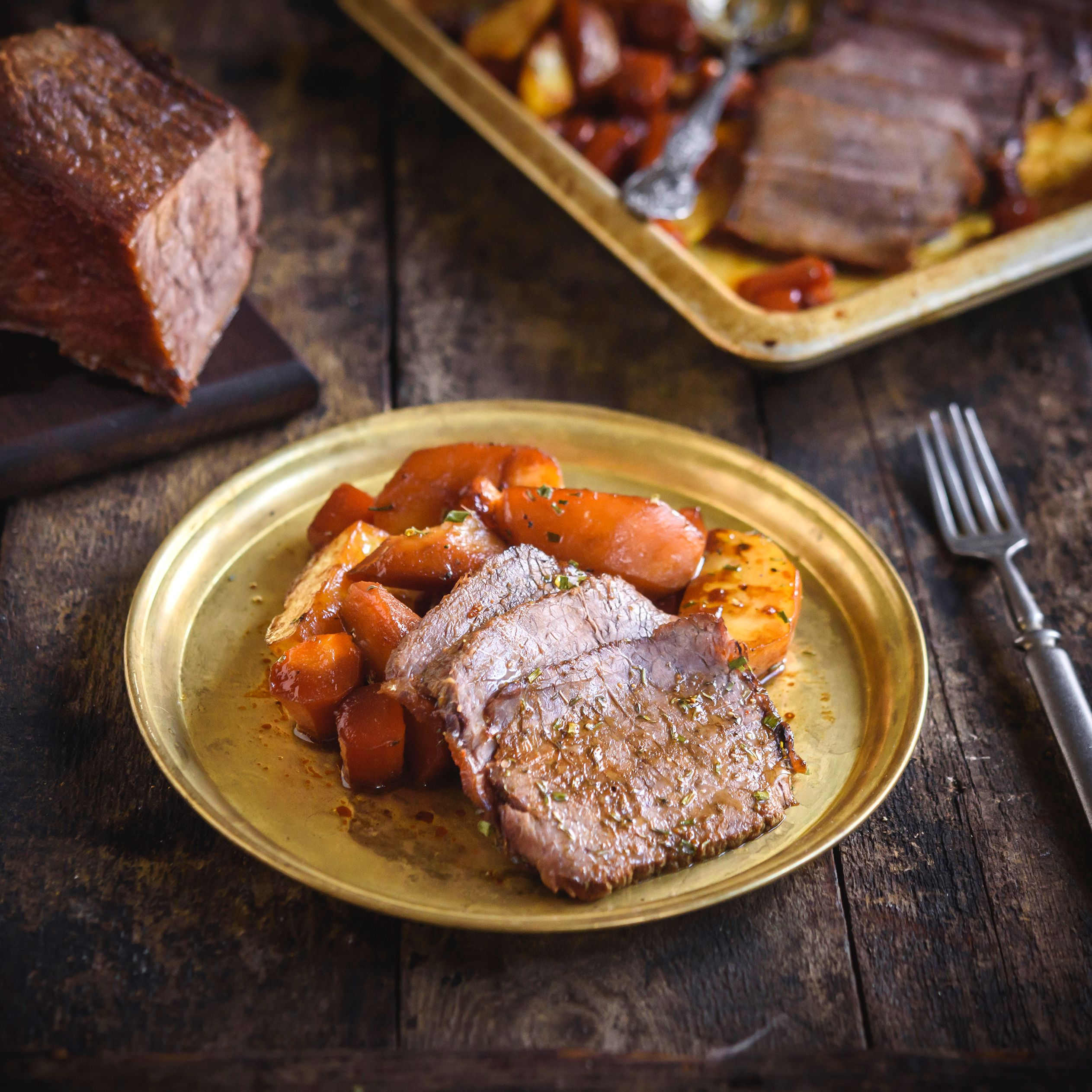 Slow Roasted Spoon Roast Top Sirloin Recipe