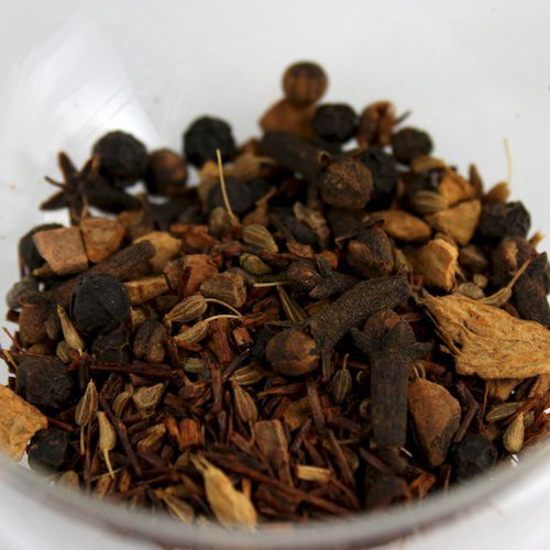 An image of spice-and-rooibos-based Red Chai from ESP Tea Emporium.