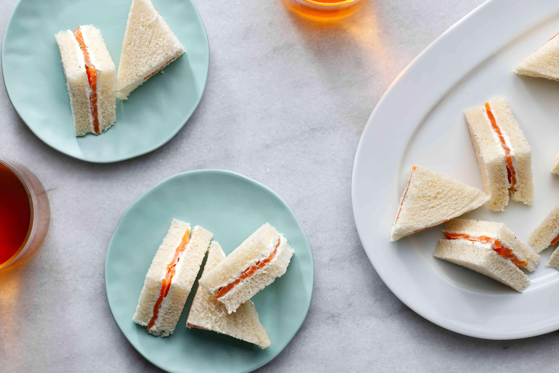 Salmon and Cream Cheese Tea Sandwiches