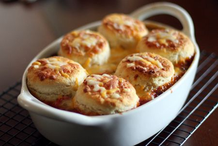 Beans And Hot Dogs With Biscuit Topping Recipe