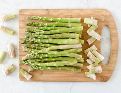 Trim asparagus