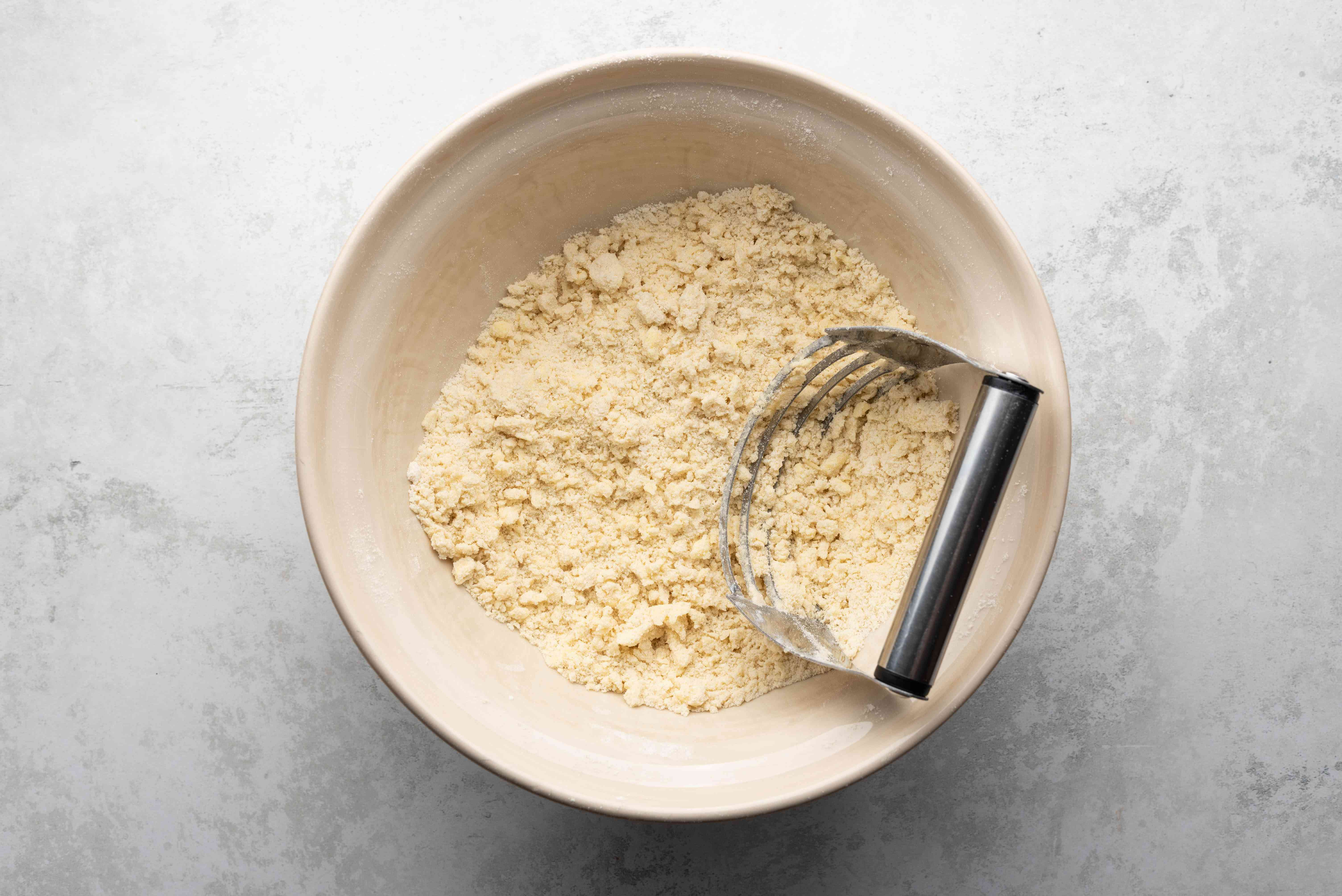butter combined with the flour mixture