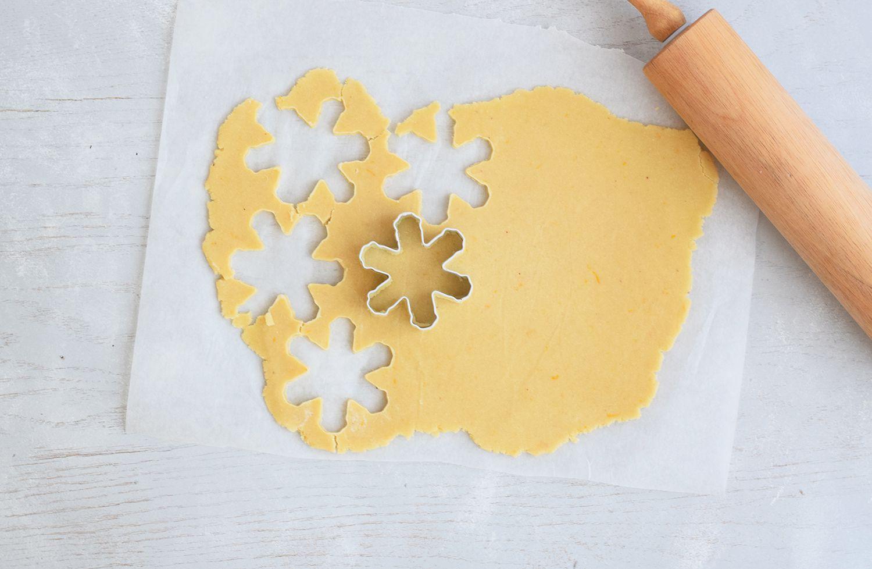 Cut out cookie dough